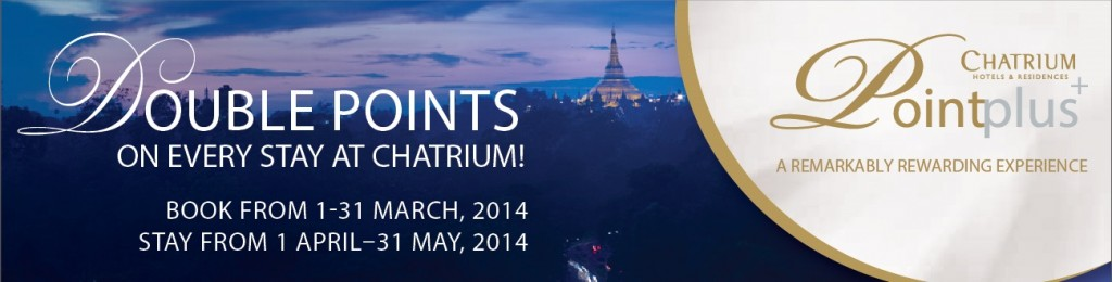 Double Points Offer on Chatrium Point Plus+ for Every Stay at Chatrium Hotels and Residences