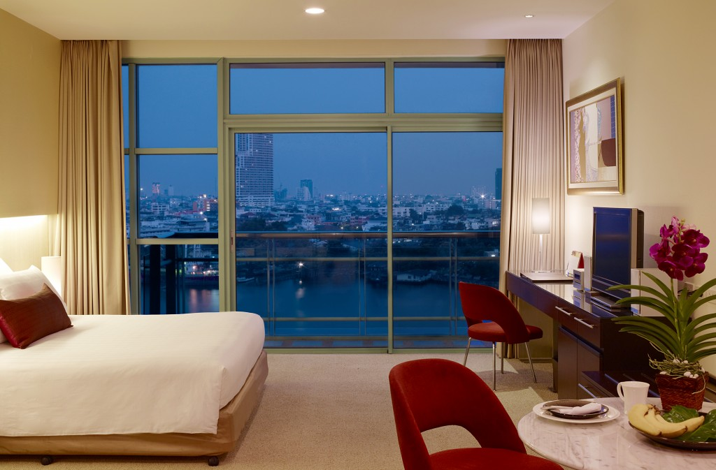 Modern accommodation at Chatrium Hotel Riverside Bangkok