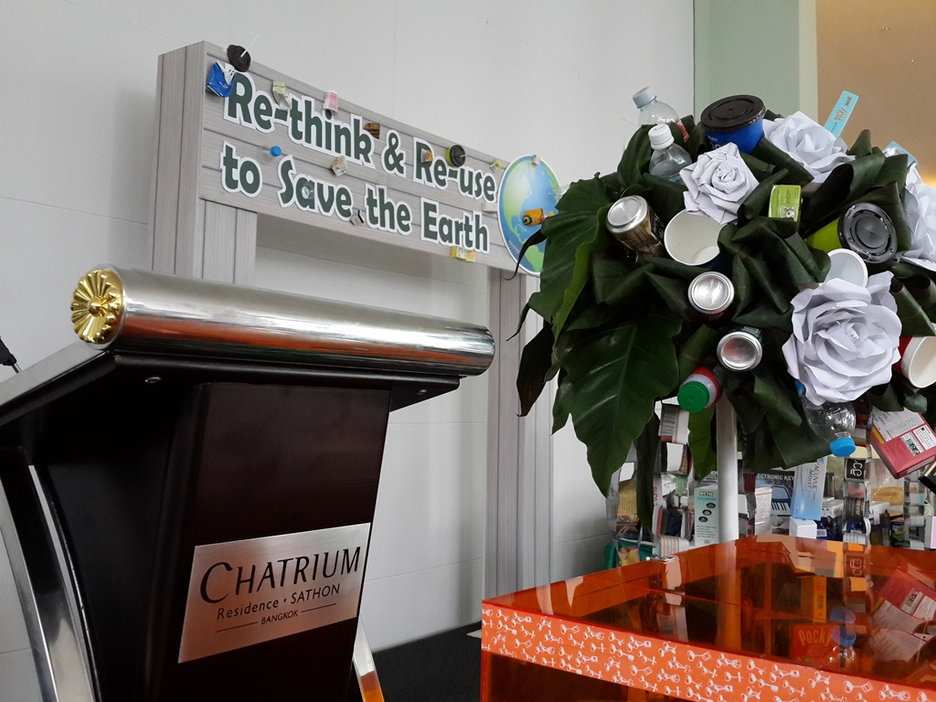 CHATRIUM'S GREEN EVENT RE-THINK & RE-USE TO SAVE THE EARTH