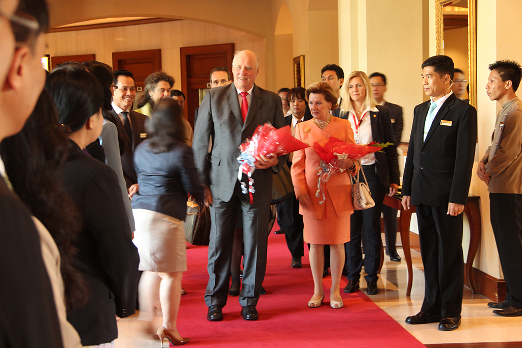 Norwegian Royals Stay At Chatrium Hotel Royal Lake Yangon