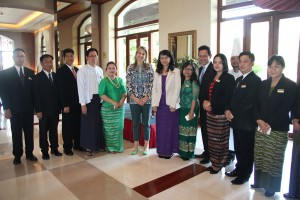 Queen Máxima of the Netherlands Stays At Chatrium Hotel Royal Lake Yangon