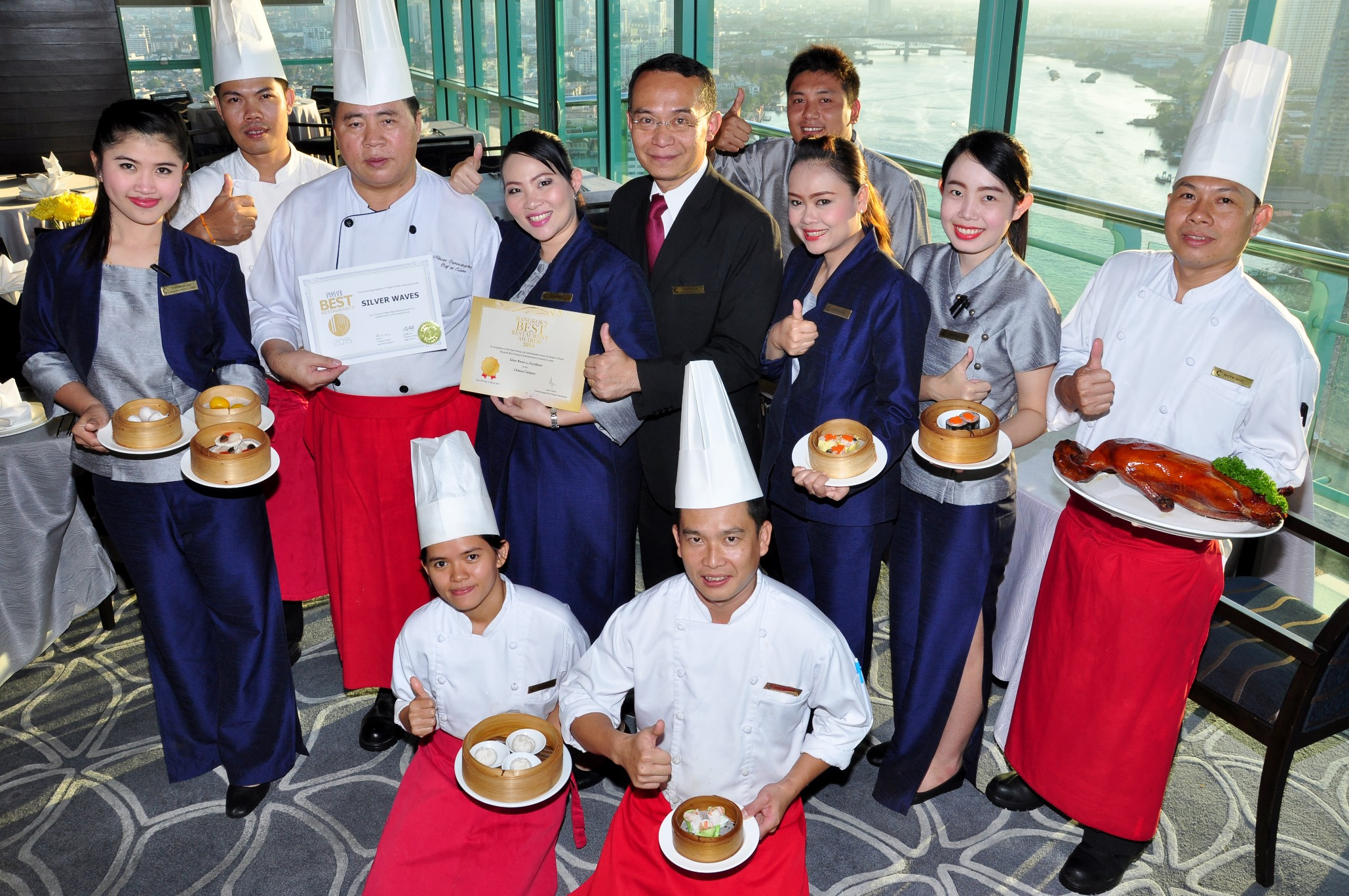 SILVER WAVES RESTAURANT WINS 2 BEST RESTAURANT AWARDS FROM BANGKOK BEST DINING & ENTERTAINMENT AND THAILAND TATLER