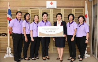 Chatrium Hotel Hotels and Residences Donated Cash to people in Nepal through Thai Red Cross Society