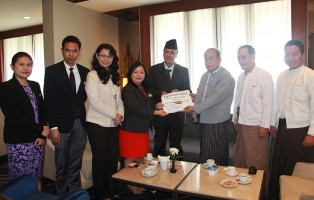 Chatrium Hotel Royal lake Yangon Donated Cash to people in Nepal through Myanmar Red Cross Society