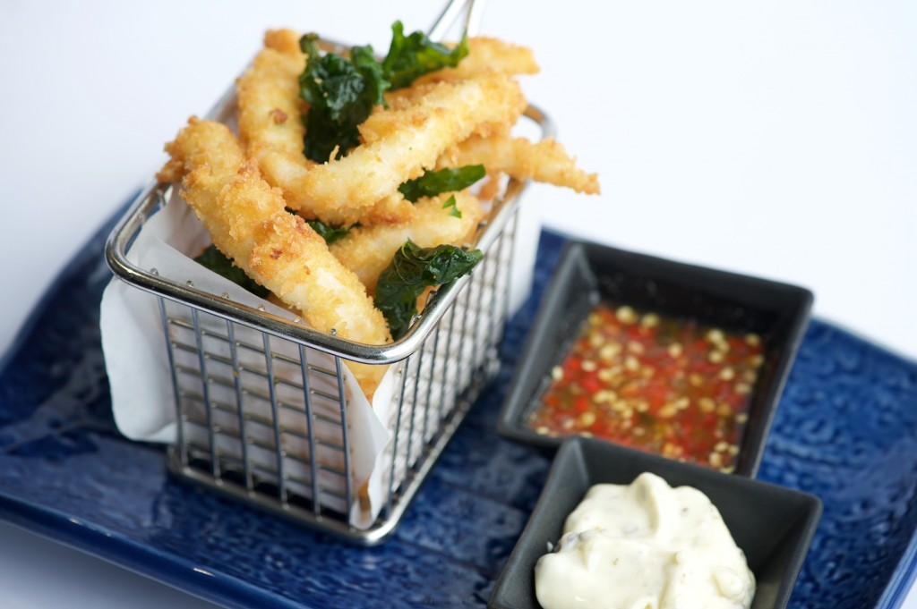 Calamari Fries served with Tartar Sauce