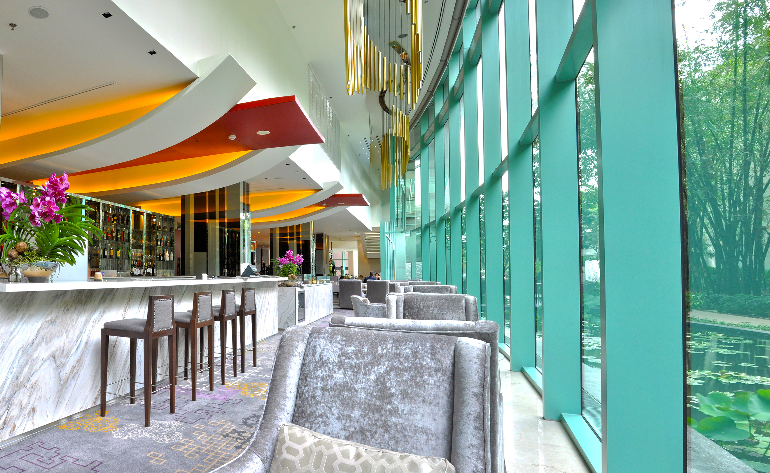 Calm and Pleasant Lobby Lounge in Chatrium Hotel Riverside Bangkok