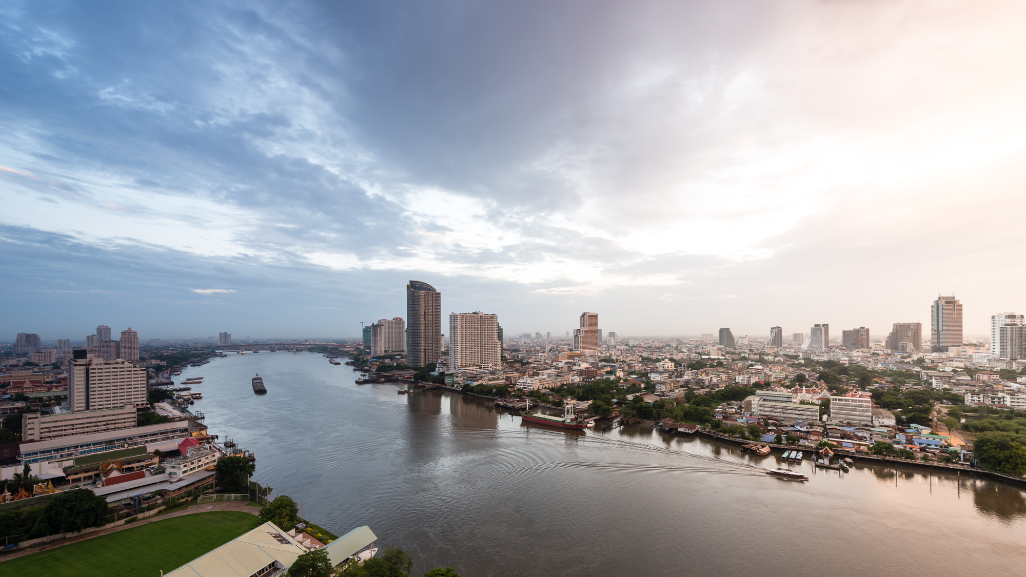 Riverside View from Chatrium Hotels and Residences Bangkok