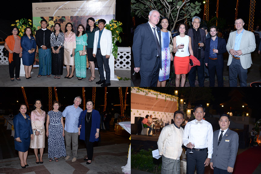 Chatrium Hotel Royal Lake yangon Myanmar New Year Celebration and Annual Thank You Party