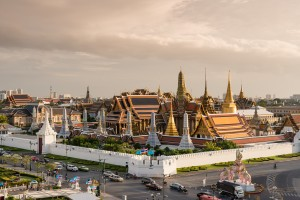 Wat Phra Kaew, the most important Buddhist temple in Thailand