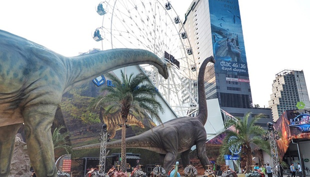 Outdoors of Dinosaur Planet Theme Park in Bangkok