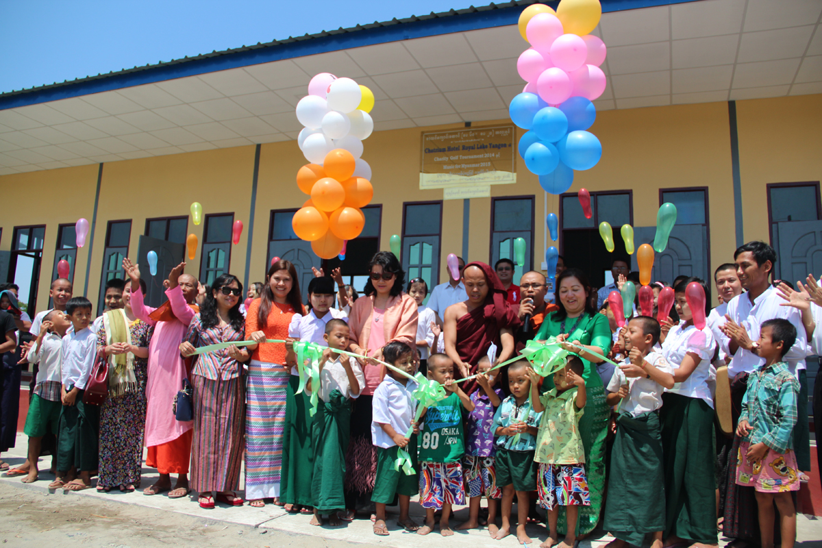 Chatrium Staff Opening the New Building at Nawarat Monastic School