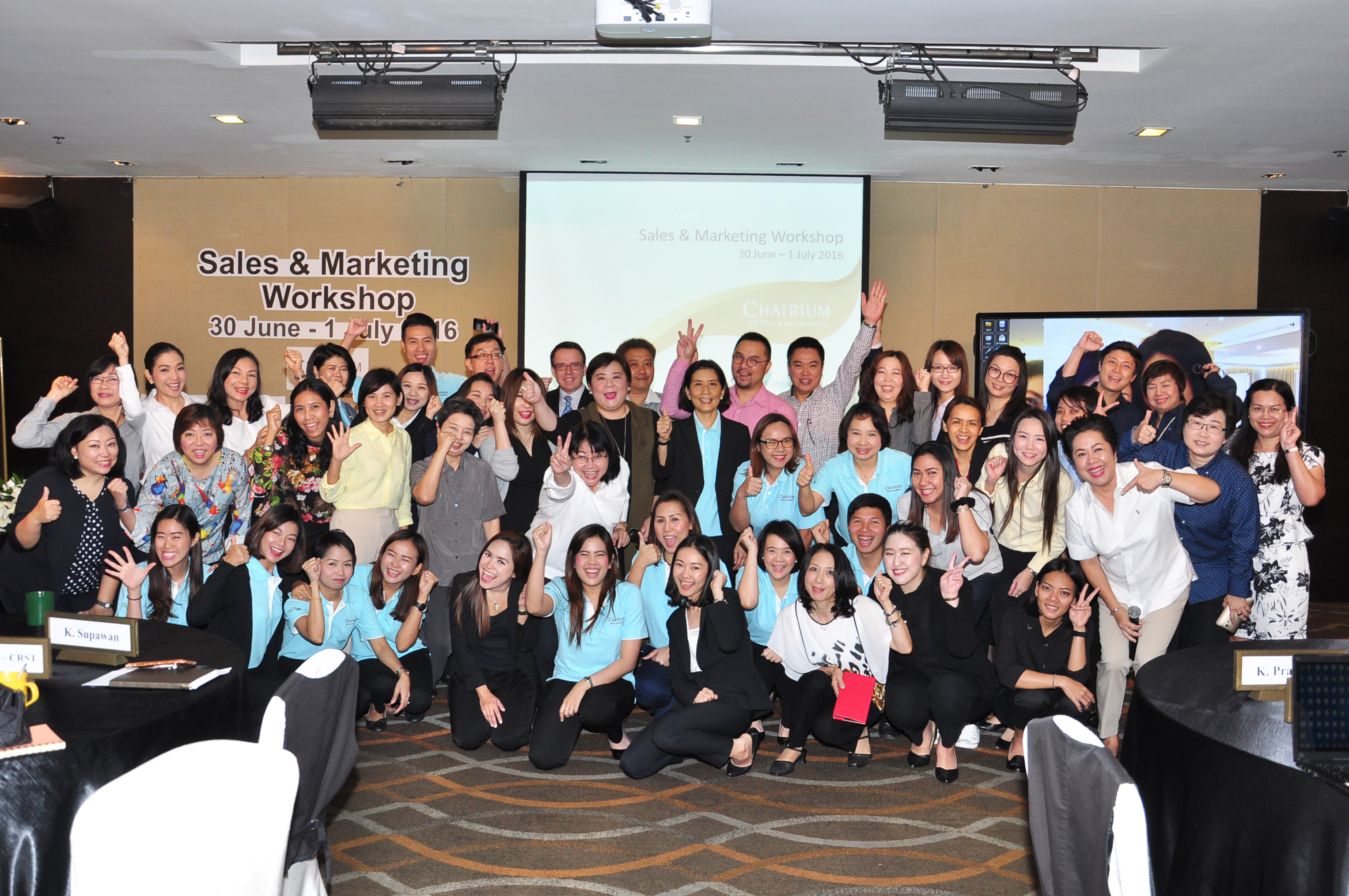 Chatrium Staff at the Sales and Marketing Workshop 2016