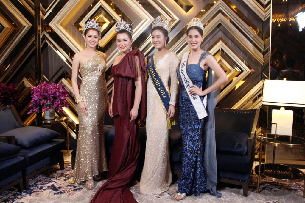 Miss Thailand with Crown in ShaeKuthoe VIP Lounge (1)
