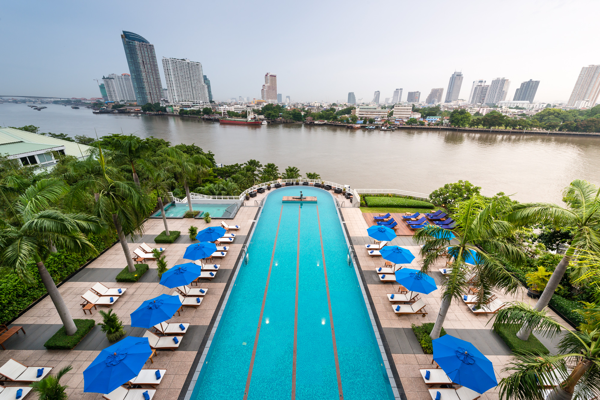 Aerial View of the Pool at Chatrium Hotel Riverside Bangkok