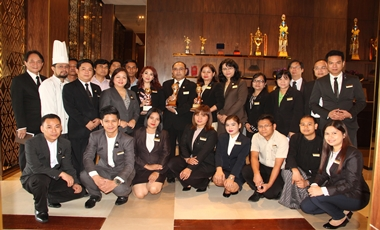 Chatrium Hotel Royal Lake Yangon Staff with Awards Won