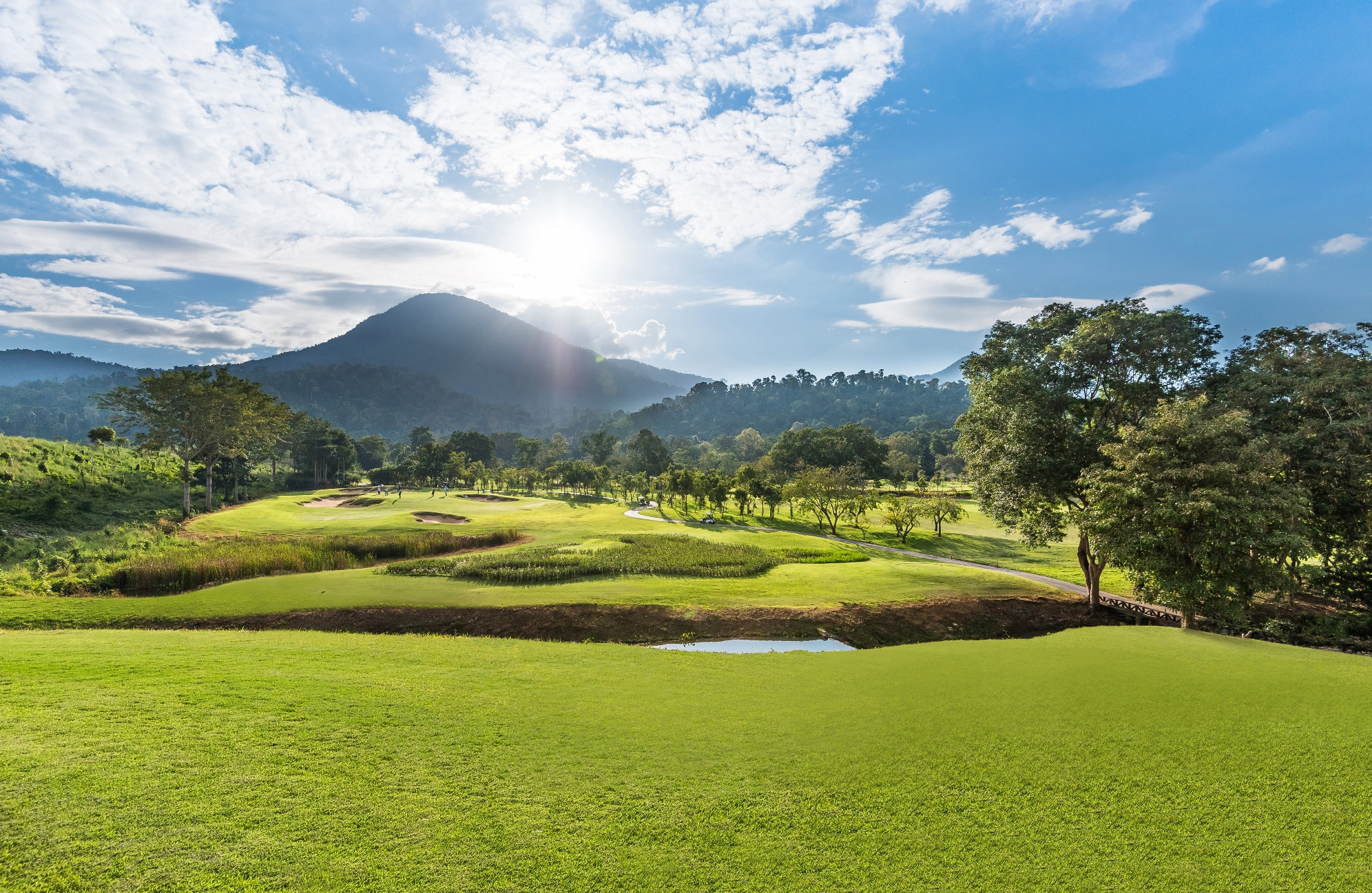 Beautiful golf course at Chatrium Golf Resort