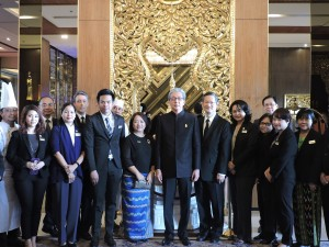 THE DEPUTY PRIME MINISTER OF THAILAND VISITS CHATRIUM HOTEL ROYAL LAKE YANGON