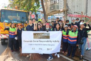 "Chatrium Residence Sathon Bangkok's Joins the ""Big Cleaning Day"""