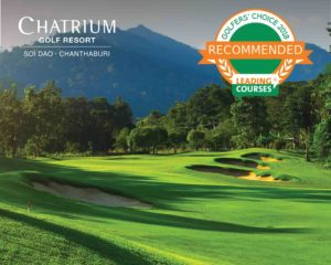 Certificate for Chatrium Golf Resort Soi Dao Chanthaburi