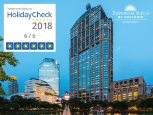 Excellence of Three Chatrium Properties Recognized with Recommended on HolidayCheck 2018 Award